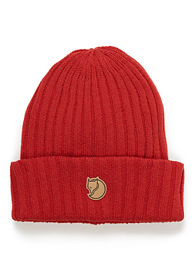 Logo patch wool tuque