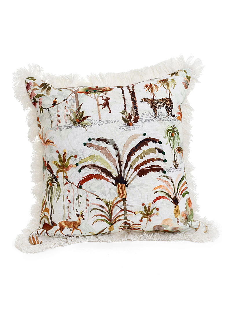 Simons Maison Assorted Watercolour jungle cushion  43 x 43 cm
